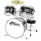 Tiger 3 Piece Junior Drum Kit - Black