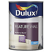 Dulux Feature Wall Matt Emulsion Paint, Mulberry Burst, 1.25L