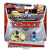 Disney Pixar Cars Diecast Race Team Luigi & Guido with Headsets