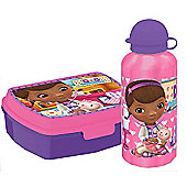 Doc McStuffins Gift Set - Drink Bottle and Lunch Box