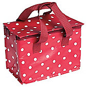 Red Retro spot lunch bag