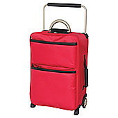 IT Luggage World's Lightest Suitcase, Red Small