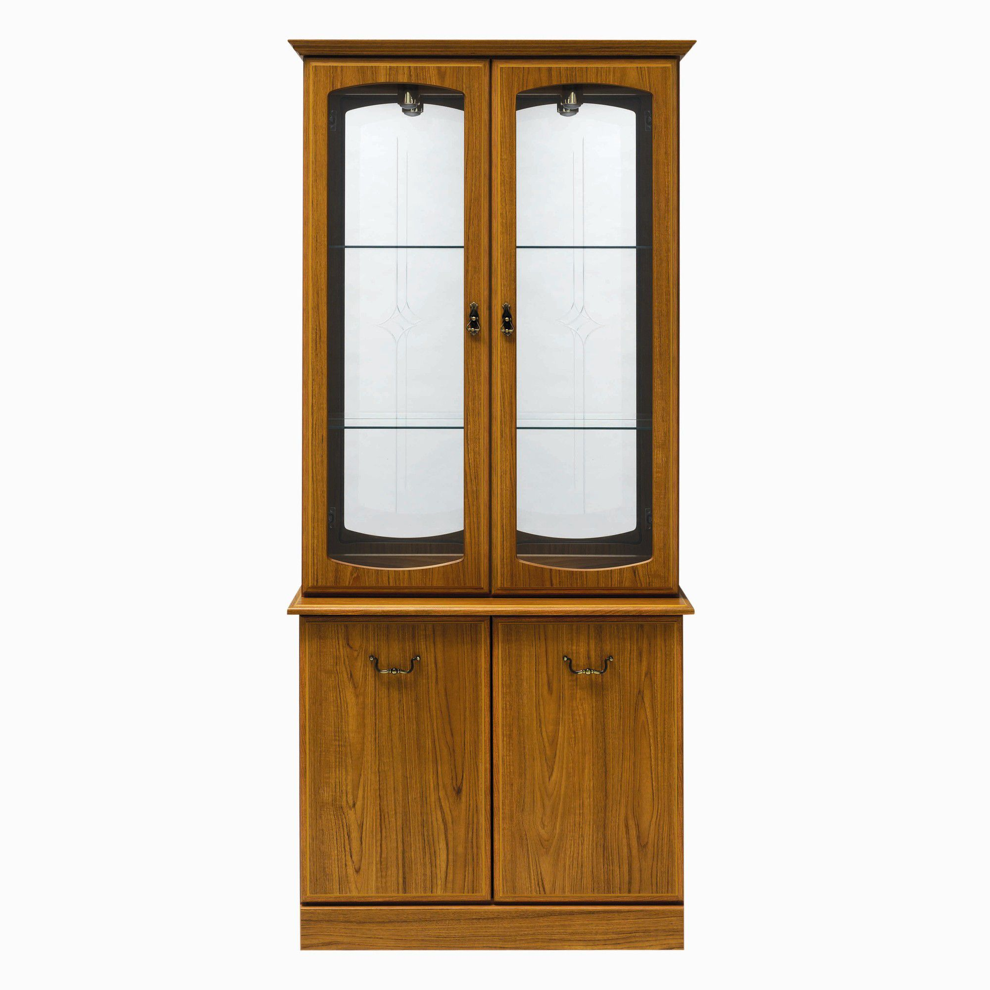 Caxton Tennyson 91 cm Display Cabinet in Teak at Tescos Direct