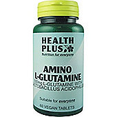 Health Plus Glutamine 500mgVegan 60 Veg Tablets