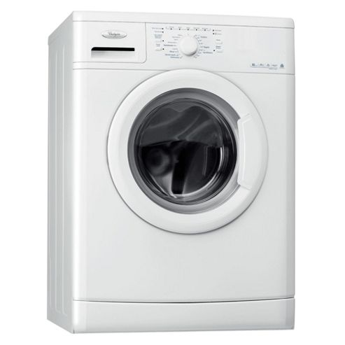 Whirlpool WWDC6200 Washing Machine, 6kg Wash Load, 1200 RPM Spin, A+ Energy Rating. White