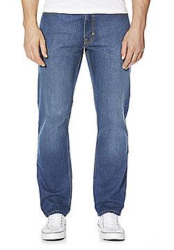 F&F Mid Wash Straight Leg Jeans - Mid wash