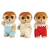 Meerkat Triplet Babies - Sylvanian Families Baby Figures 4171