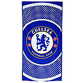Chelsea Fc 'Bullseye' Football Printed Beach Towel