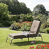 Ferndown Brown Reclining Sunlounger