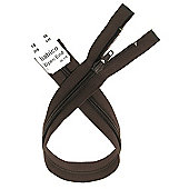 Open End Zip - 46cm - Brown