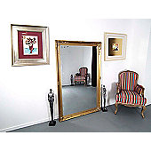 Extra Large Ornate Styled Gold Rectangle Wall Mounted Wood Mirror 170Cm X 109Cm
