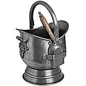 Antique Pewter Coal Bucket & Shovel