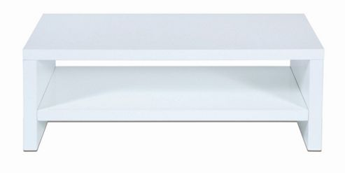 LEVV High Gloss TV Stand - High Gloss White