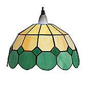 Loxton Lighting Bistro Down-Lighter with Tiffany Shades - 25 cm