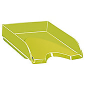 Solid Green Letter Tray