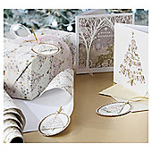 Bunting Tree Luxury Christmas Gift Tags, 3 pack