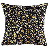 Allover beaded cushion black