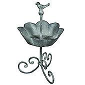 Little Bird - Iron Garden Pot / Planter Grey