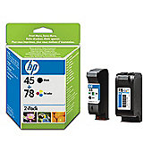 HP 45/78 Combo-pack Inkjet Print Cartridges