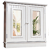 Tallula - White Double Mirror Bathroom Wall Storage Cabinet