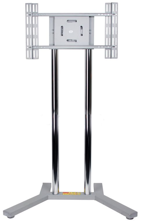 B-Tech Silver Floor Stand For TVs up to 50 inch with 1.5m Poles