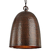 Eye-catching and Modern Hammered Antique Bronze Large Ceiling Pendant