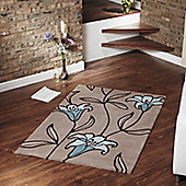 Ultimate Rug Co Floral Art Lily Rug - 160 cm x 230 cm (5 ft 3 in x 7 ft 6.5 in)