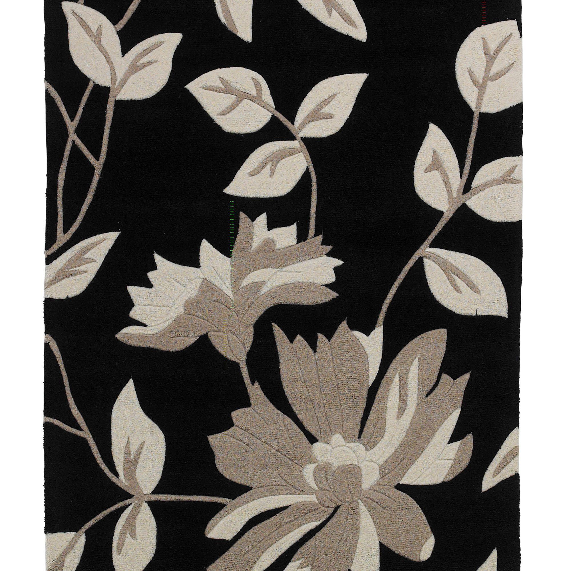 Oriental Carpets & Rugs Hong Kong Black Tufted Rug - 150cm L x 90cm W