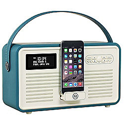 VQ Retro MK II DAB/DAB+/FM/Bluetooth Radio with Apple Lightning Dock (Teal)
