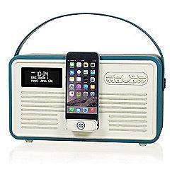 VQ Retro MK II DAB/DAB+/FM/Bluetooth Radio with Apple Lightning Dock (Teal)