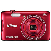Nikon Coolpix S3700 Digital Camera, RED