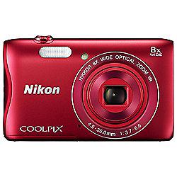 Nikon Coolpix S3700 Digital Camera, RED
