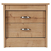 Thornton 2 Drawer Bedside Cabinet,  Oak Effect