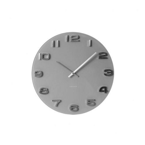 Buy Karlsson Vintage Round Wall Clock Grey From Our