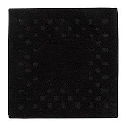 Homescapes Cotton Check Border Black Shower Mat