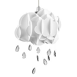 Cloud & Rain Drops Ceiling Light Pendant Shade in White