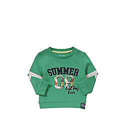 F&F Summer 08 Sweatshirt 06 - 09 months Green