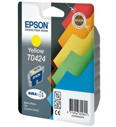 Epson T0424 Yellow Ink Cartridge for Stylus C82/CX5200/CX5400 Printers