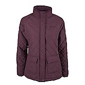 Cullin Womens Equestrian Horse Riding Country Quilted Jacket - Purple