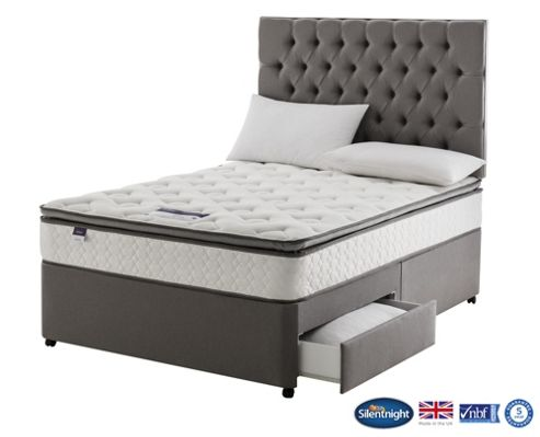 Buy silentnight wensley divan bed miracoil luxury for Silent night divan beds