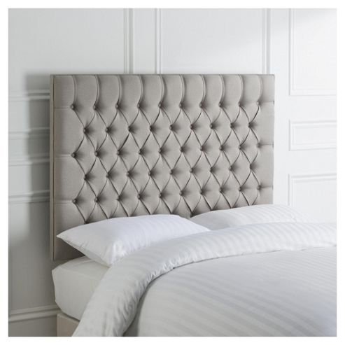 buy henley king size upholstered headboard grey from our headboards range tesco. Black Bedroom Furniture Sets. Home Design Ideas