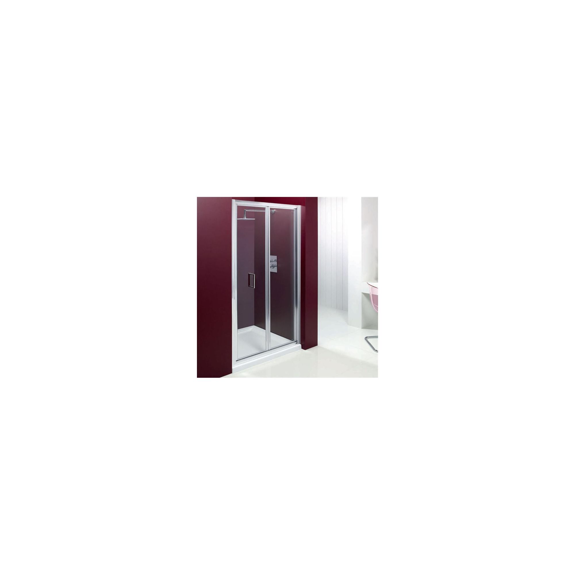 Merlyn Vivid Entree Bi-Fold Door Alcove Shower Enclosure, 800mm x 800mm, Low Profile Tray, 6mm Glass at Tesco Direct