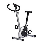 Homcom 8 level Indoor Belt Exercise Bike Bicycle Trainer Cycling Aerobic Fitness Equipment Cardio Workout Resistance w/ Monitor