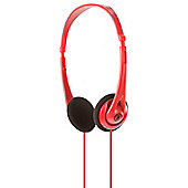 Official 2XL Skullcandy Wage Light Weight Over-head Headphones 3.5mm - Red