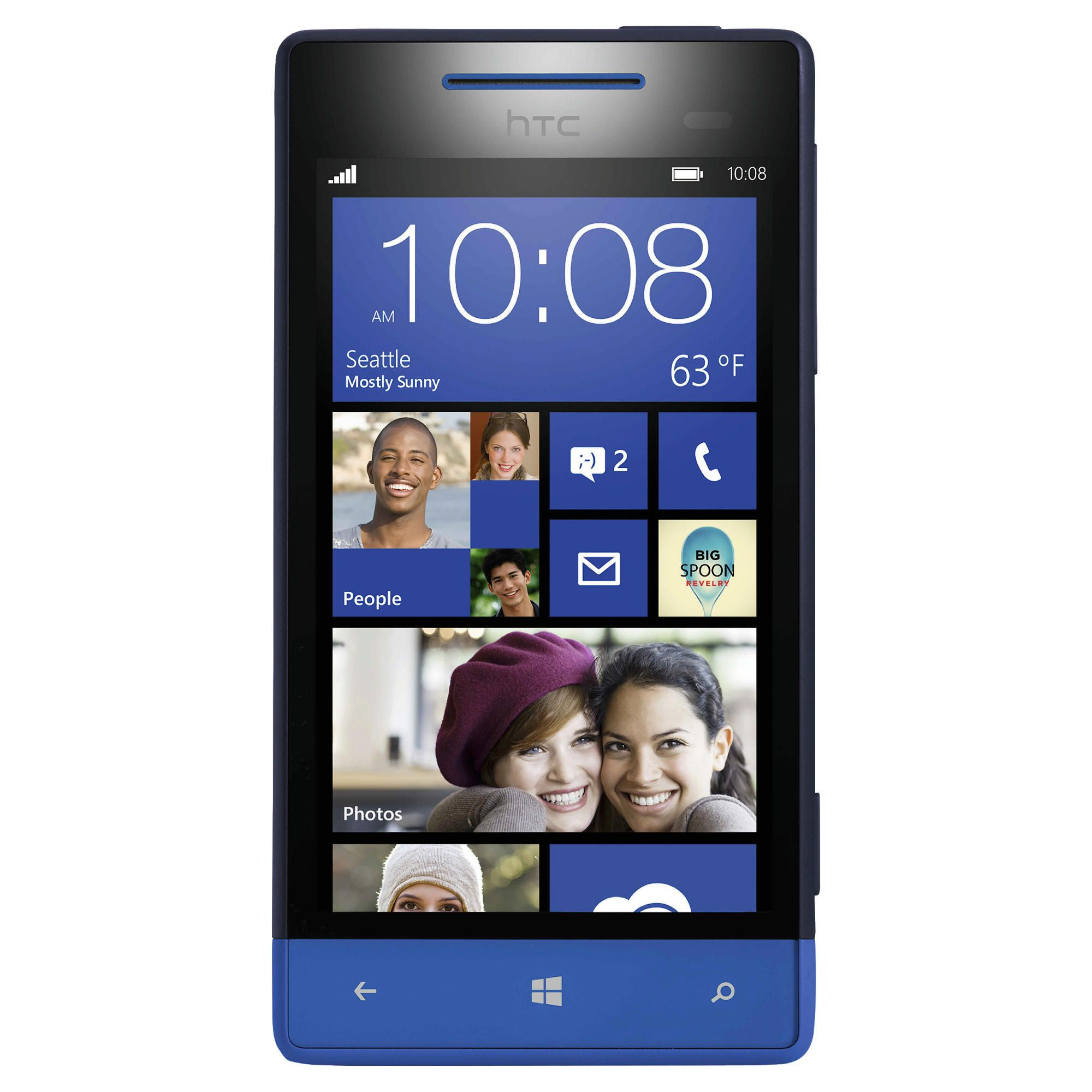 Tesco Mobile HTC Windows Phone 8S Blue