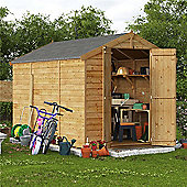 BillyOh Keeper Overlap Apex Wooden Garden Shed - 10 x 6 Windowless