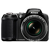 "Nikon Coolpix L330 Digital Bridge Camera, Black, 20.2MP, 26x Optical Zoom, 3"" LCD Screen"