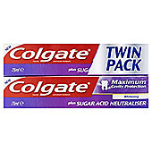 Colgate Maximum Cavity Protection Whitening Toothpaste Fresh Mint, 75ml Twin Pack