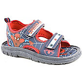 Character Boys Spiderman Navy and Red Casual Sandals - Navy