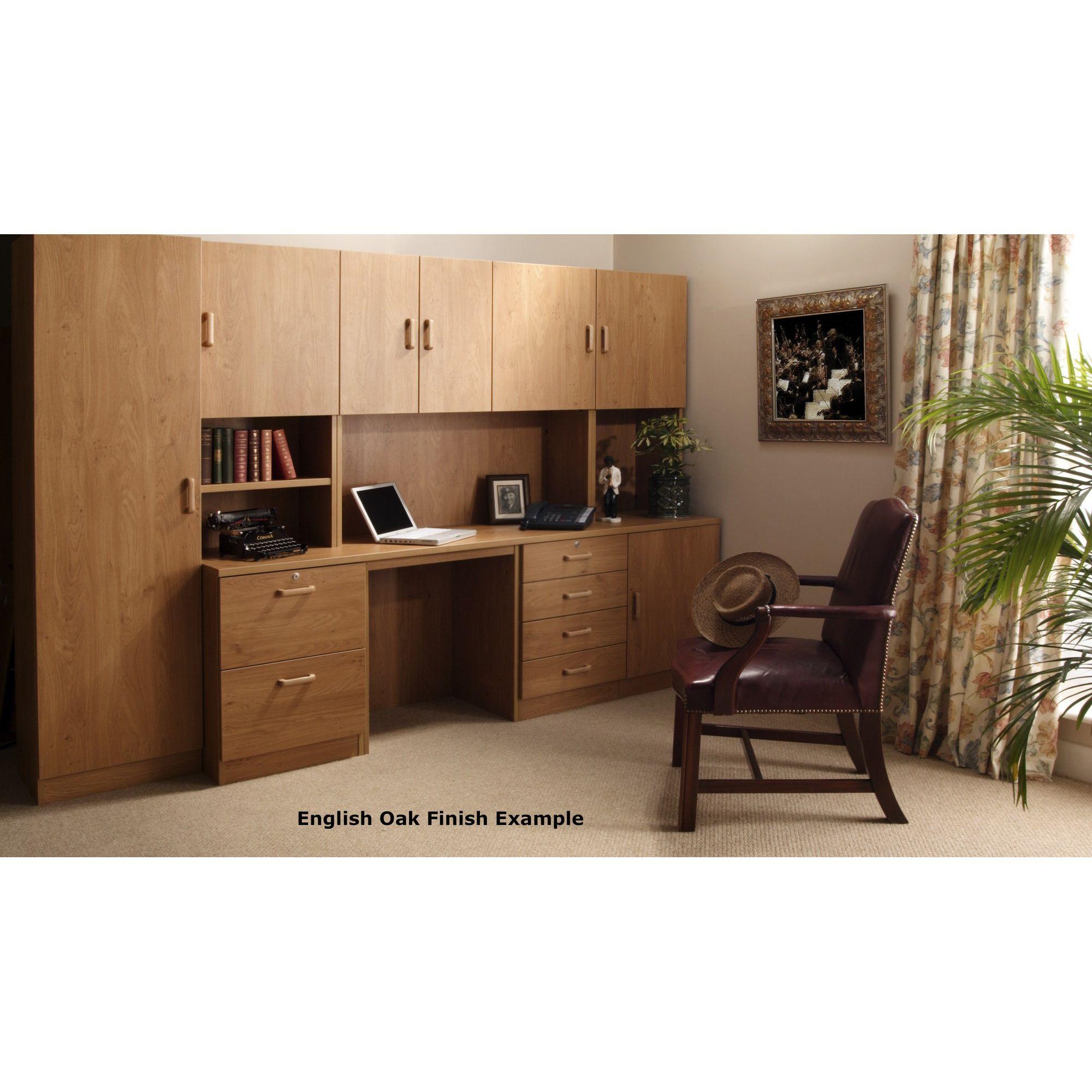 Enduro Four Drawer Wooden Pedestal - English Oak at Tesco Direct
